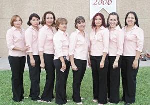 Goretti M. Macías Vera, Verónica Márquez, Leticia Pedroza Romero, Isabel Contreras, Cecilia, San Juanita Valenzuela, Ana María Esquivel Puentes y Mayela Pedroza.