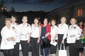 Luz María Aguilar de Ortiz, Cecilia González Treviño, Amparo Porras de Gómez, Salomé Sánchez, Isabel Montes Acosta, Tere Peña, Rosario Ramírez de Reed y Julieta Guereca.