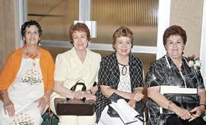Coty Guerra, Violeta de Cárdenas, Mary Suárez del Real y Josefina Aguado de Martínez.