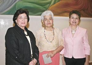 Vivi de la Peña, Amparito Rivera y Victoria Eugenia Acosta.