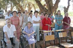 Las integrantes del patronato de la Ciudad de los Niños, que preside doña Lucía de Fernández Aguirre.