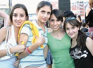 Daniela Alanis, Magaly Berumen, Mariana Chamon y Valeria Rivera.
