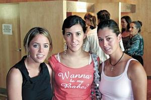 Cecey Villarreal, Lorea González y Bárbara Madero