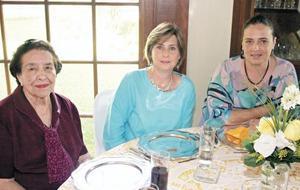 Beatriz Ruiz de González, Margarita Lascurain de Murra y Mayte Aguirre de Anaya