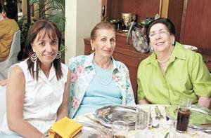 Mari Tere Martín Bringas, Rosa Talamás de Murra y Mavisa Garza