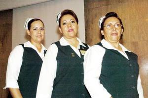 Luz Elena Rodríguez, Dolores Rico y Bertha Mendoza.
