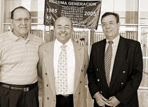 Carlos Campa, Gerardo Mart÷inez y Francisco Balandrano.