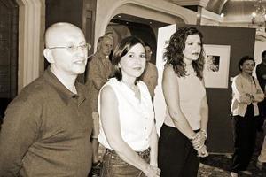 Héctor Gómez, Mónica Bernal y Lourdes Bernal.
