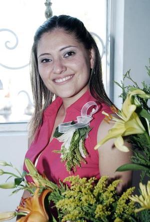 Alejandra Martínez Magaña, captada el día de su despedida de soltera.