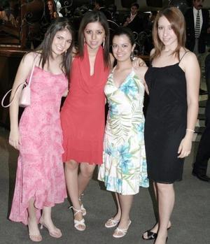 Ana Lucía Valenzuela, Katia Soto, Brenda Enriquez y Adriana Vigne.