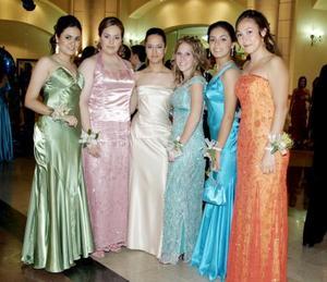 Mariana Lozano, Adela López, Mariana Caballero, Kellie Alexander, Monse Aguirre y Caty Ávila.