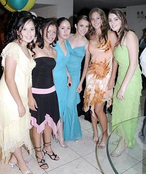 Ene Martínez, Karla Sánchez, Katty Blanco, Pilar González, Susy Villarreal y Miriam Estrada.