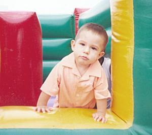 El pequeño Rodrigo Silva Massón, captado en su fiesta de cumpleaños.