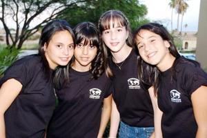 Mariel González, Rocío Martínez, Regina Arras y Andrea Ramírez.