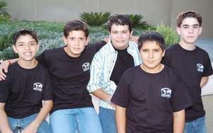 <b>30 de junio</b><p>  Rodrigo Barrera, Santiago González, Michael Madrid, Jorge Antonio Ávila y José Calvete.