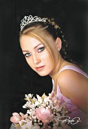 Srita. Victoria Isabel González Guerrero, en una foto de estudio con motivo de sus quince años.