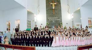 Alumnos de las secciones A, B, C, y D del Jardín de niños, Generación 2002-2005.