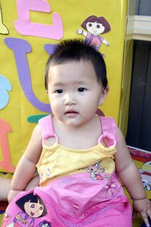 La pequeña Meguimi Takahata Ortegón, captada el día de su piñata, con motivo de su primer cumpleaños.