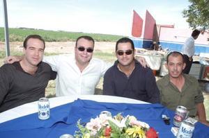 Ignacio Peña, Toño Lamberta, Ignacio Cruz y Orlando Mancisidor.