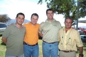 <b>05 de julio 2005</b><p> Alberto de la Rosa, Javier González, Gabriel González y Ricardo Barrera.