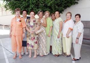 Carmelita Anaya, Alicia Viesca, Fátima Chamán, Martha Llorens, Clemen de Sada, Luz García, Maribel de Balboa, Amalia de Martínez y Mariquita de Guerrero.