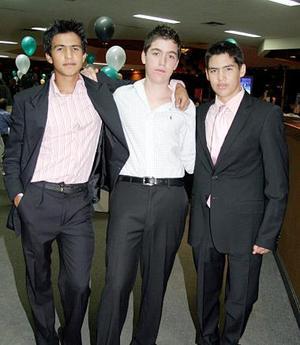 <b>04 de julio 2005</b><p> Toto Borrego, Eduardo Jesús Tovalín y Beto Treviño.