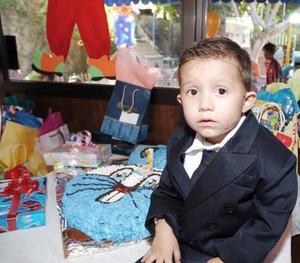 Hugo Dayan Fuentes Ramírez, captado el día de su piñata.