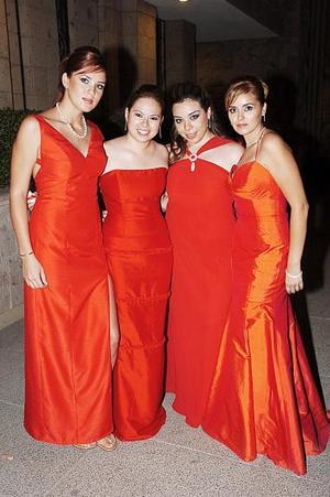 Sandra Villa González, Diana Contreras, Roxana Camacho y Shelse de Armendáriz.