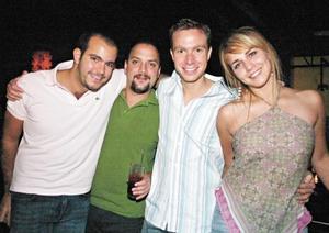 Rolando Elías, Leonardo Álvarez, Manuel Velazco y Bárbara Garza