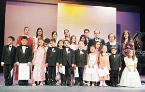 Grupo asistente al recital