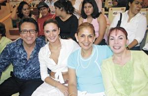 Jesús Salas, Mariana Seoane, Coco de Salas y Carmen de León