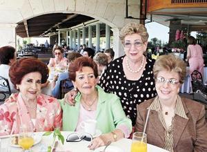 Norma C. de Salas, Ruth de Berlanga, Amelia Lugo de Boheringer y Rorris de Veyan