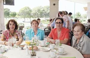 Chela López Mercado, Rosalinda Treviño, Amparo Siller y Martha Hernández