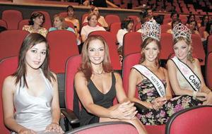 Yamil Olague Betancourt, Reina de belleza internacional; Lupita Jones, Miss Universo 1991 y directora general del concurso Nuestra Belleza México; Laura Elizondo, Nuestra Belleza México 2005 y Melissa Cantu, Nuestra Belleza Coahuila 2004