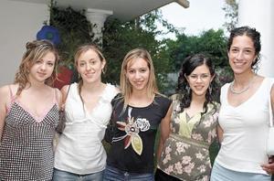 Yunue Acuña, Laura Sánchez, Myriam Martínez, Roberta Cárdenas y Emma Quintana