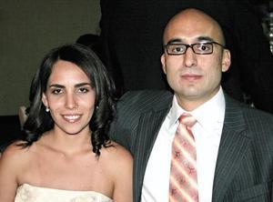 María Fernanda de Torre y Sergio Romo