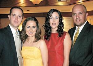 Ernesto Garza, Malena de Garza, Ana de Berrueto y Luis Berrueto