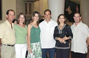 Carlos Villarreal, Pilar Tricio de Villarreal, Ana Carmen Tricio de Sesma, Ernesto Sesma, Arali de Gil y Florencio Gil