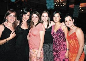 Nuri Quintero, Lucía Sáenz, Ana Laura Viesca, Daniela Teele, Pilar González y Emy Dávila