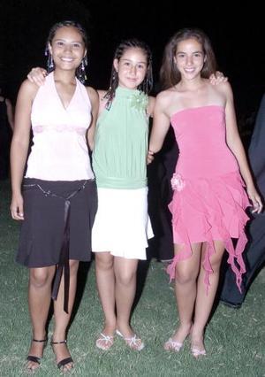 Elizabeth Morales, Bárbara Lara y Cristina Rodríguez.