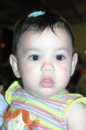 La pequeña Camila Isabela Maldonado Jáuregui, captada el día que festejó su cumpleaños.