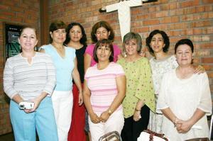 Laura, Alejandra, Kary, Paty, Vicky, Claudia, Tere y Coca.