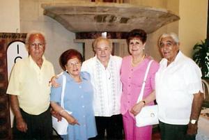 Ricardo Dorantes, Consuelo Sotomayor de Dorantes, Héctor Gómez, Lilia Llamas de Aguilar y Ángel Aguilar.