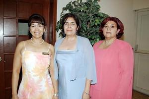 Lourdes Valadez Méndez, Ana Laura Zamora Sandoval y Bertha Imelda Díaz Benítez.