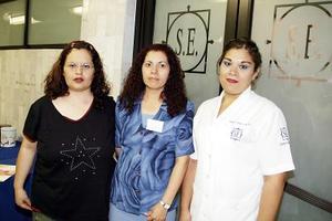 Perla Ivonne Soto, Antonia Amaya y Gregoria Méndez.