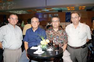 Manuel Giacomán, Alejandro Ramírez, Roberto Ricalde e Indalecio de la Peña.