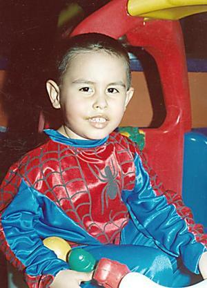 El pequeño Alfonso Arias Carbajal, captado el día de su piñata.