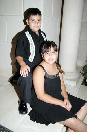 Manolo y Coquina Magaña Zamora, hijos de los anfitriones de este festejo.