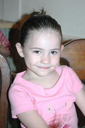 La pequeña Alexa Stephania Montellano Ávila, captada en un convivio infantil.