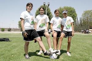Ana Cecilia Contreras, Nidia Hernández, Krischa Batarse y Daniela González.
